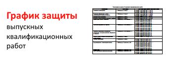 График защиты ВКР